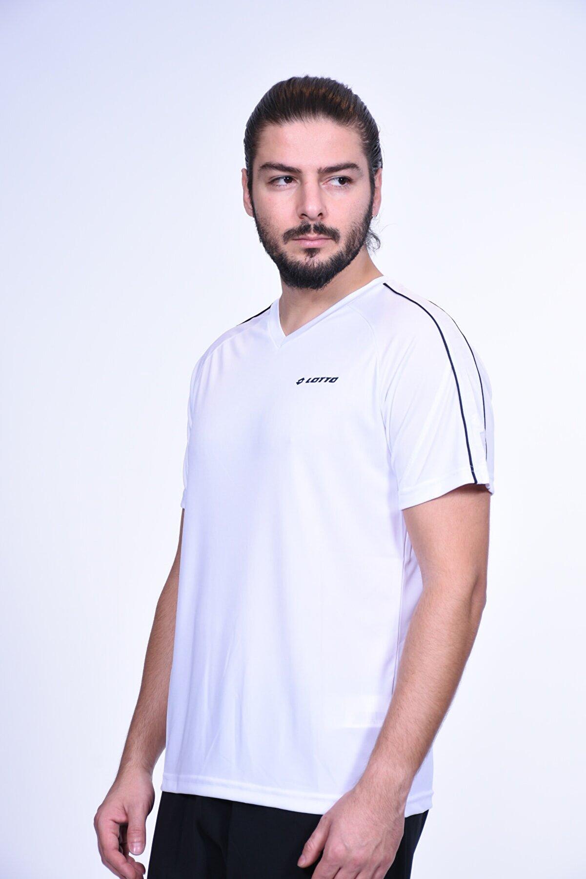 Lotto T-shirt Erkek Speed Tee Vn Pl R6387 Beyaz/siyah