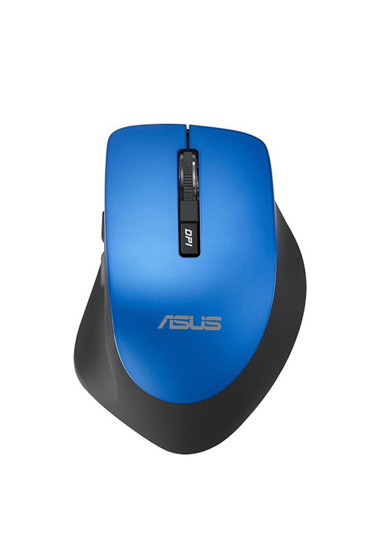 ASUS WT425 Kablosuz Optik Sessiz Tıklama Özellikli Mavi Mouse