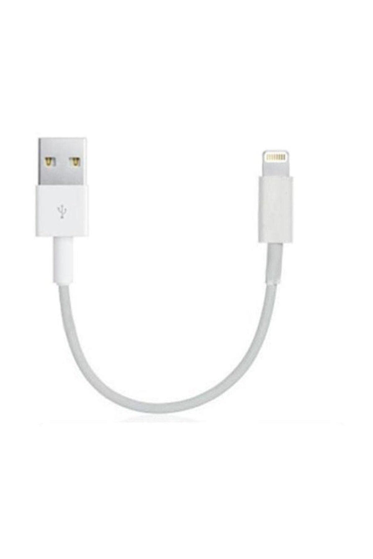 Zipax Apple iPhone 5 5S 5C 6 6S 6 7 Plus Kısa USB Data Kablosu