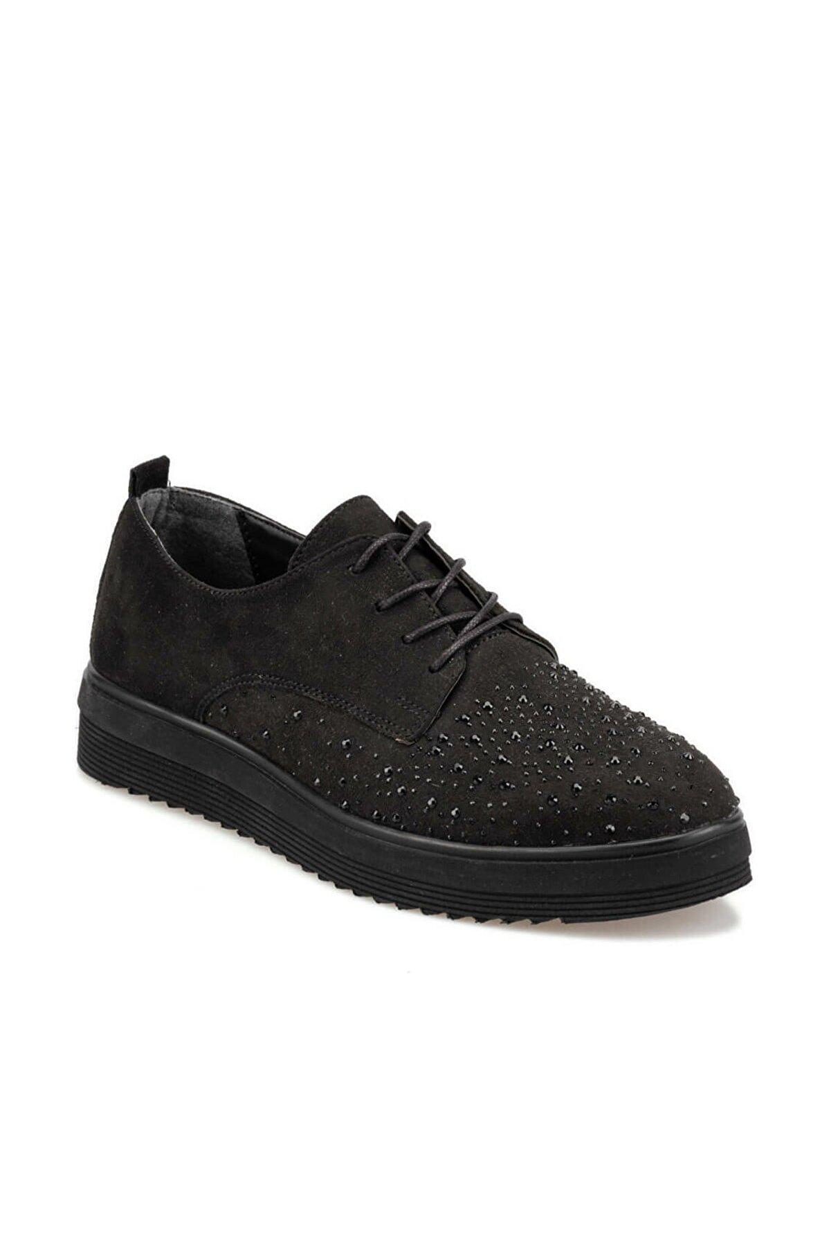 Polaris 92.312060.Z Siyah Kadın Oxford Ayakkabı 100421702