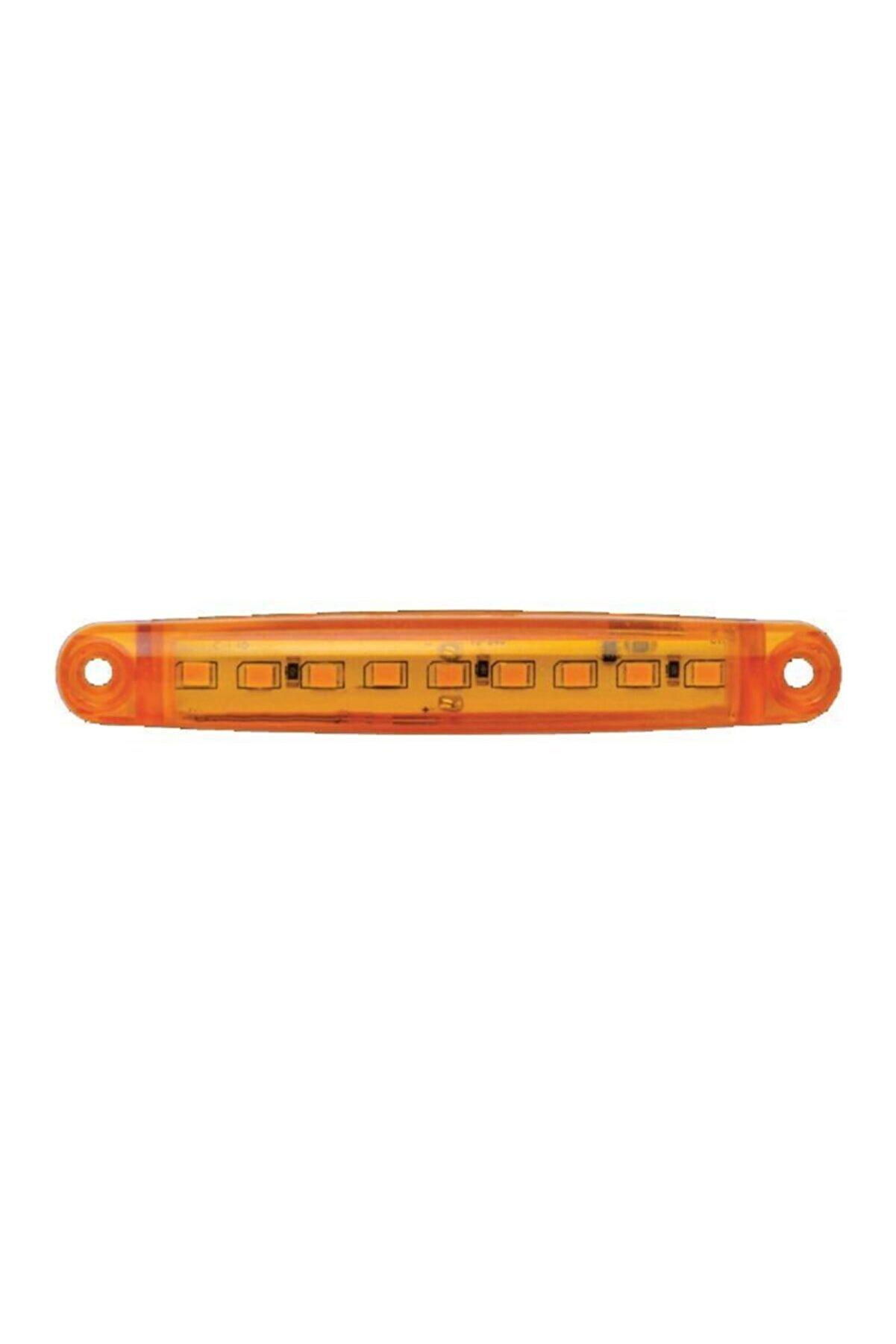 NETOTOMARKET 9 Ledli Parmak Led Lamba Sarı 12-24 Volt Hızlı Kargo
