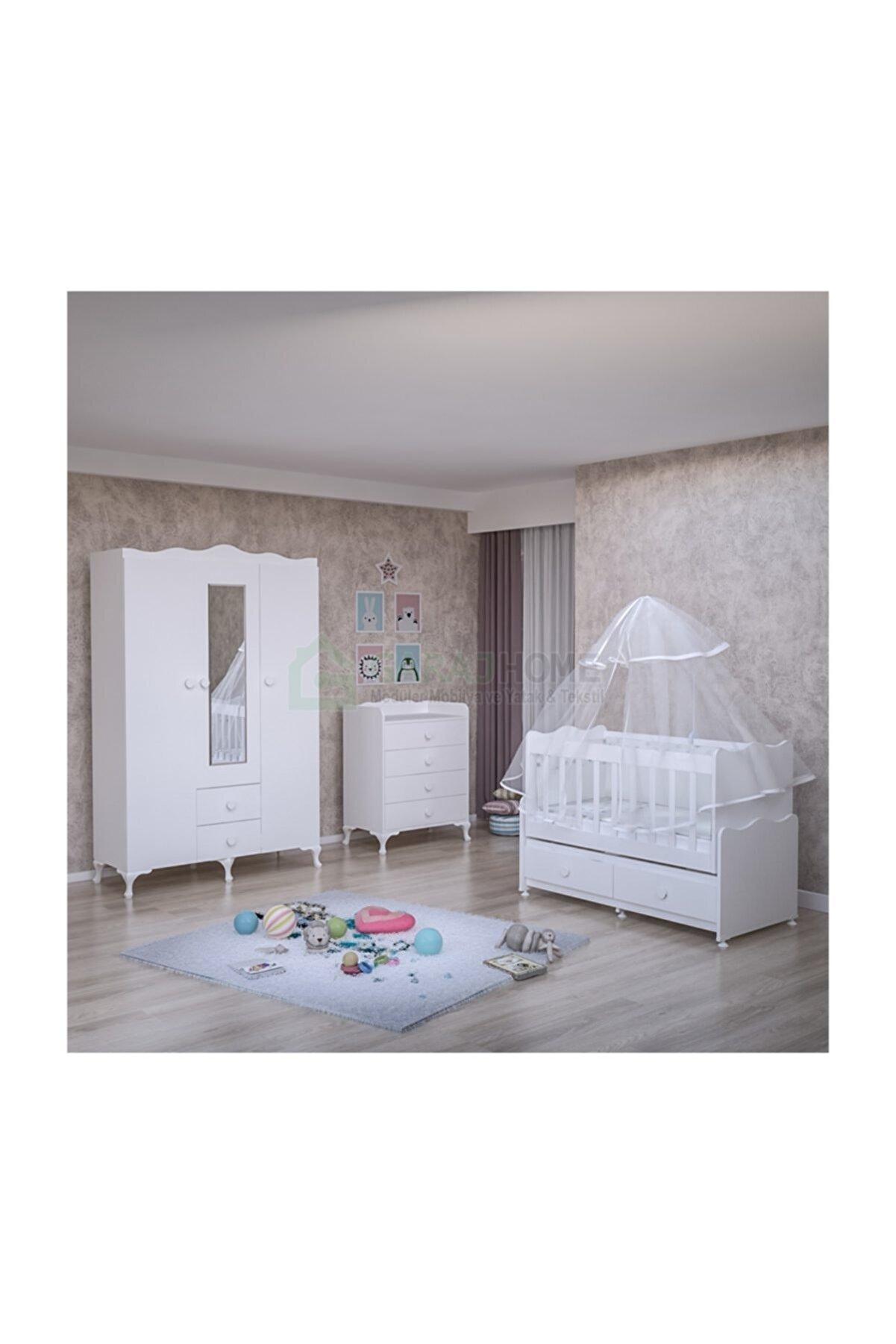 Garaj Home Elegant Bebek Odası Takımı  Yatak Ve Uyku Seti Kombinli