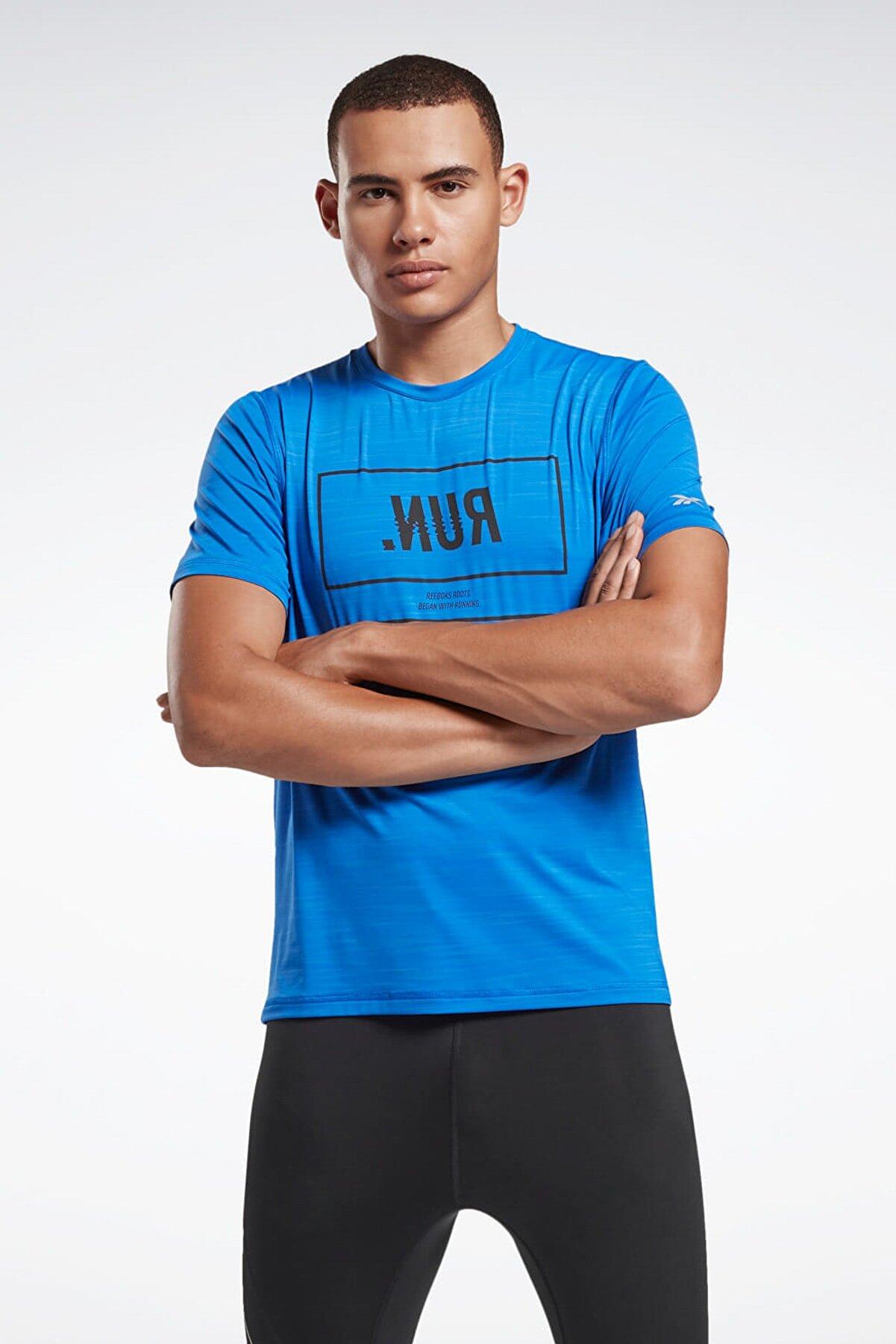 Reebok One Series Running Activchill Tee T-shirt Mavi