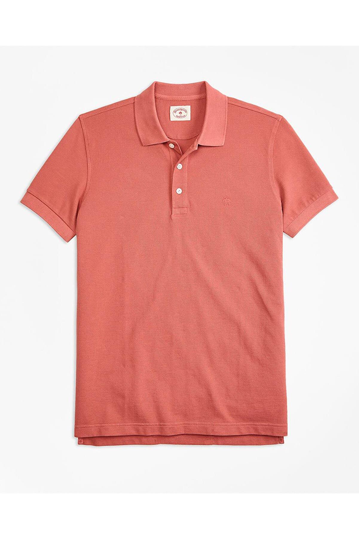 BROOKS BROTHERS Erkek Pembe Polo Yaka T-shirt