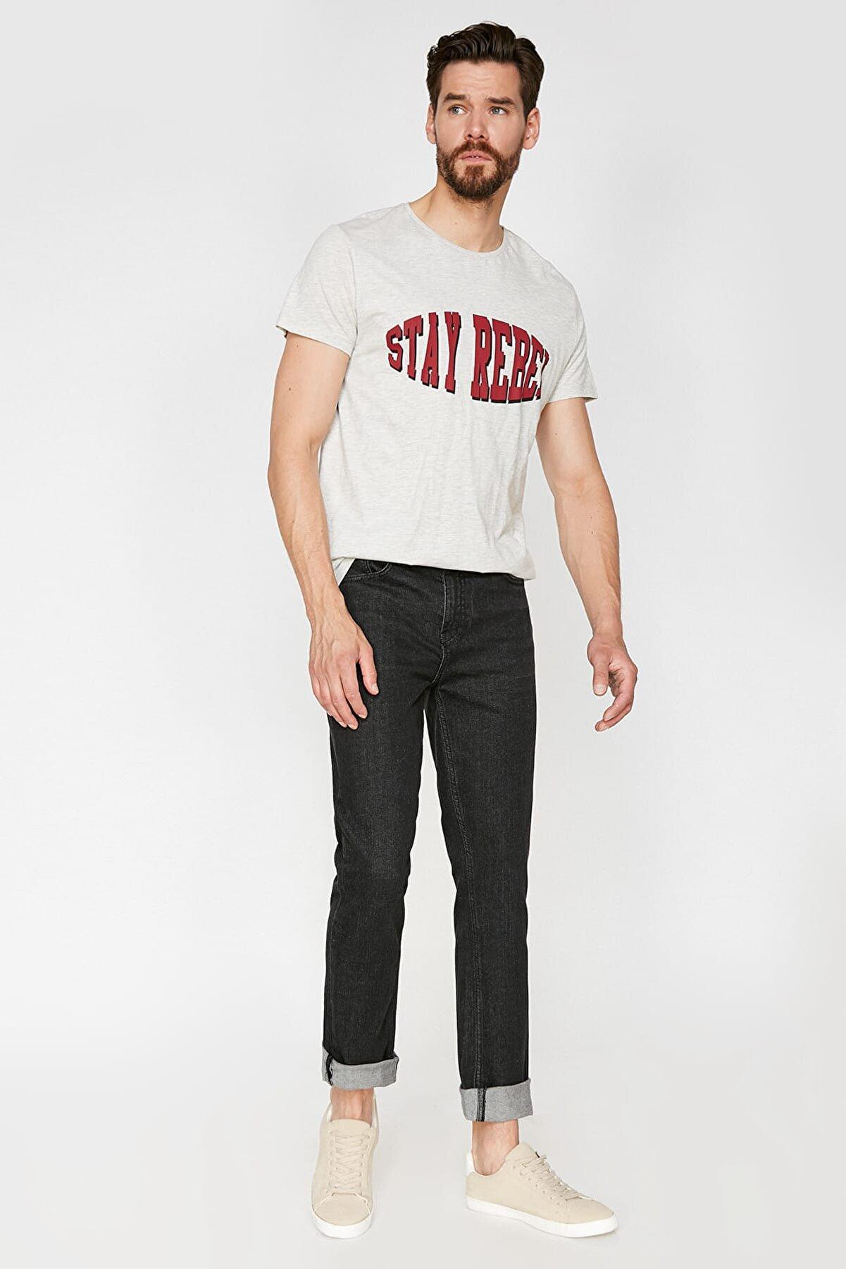 Koton Erkek Siyah Pantolon 9YAM43822LD