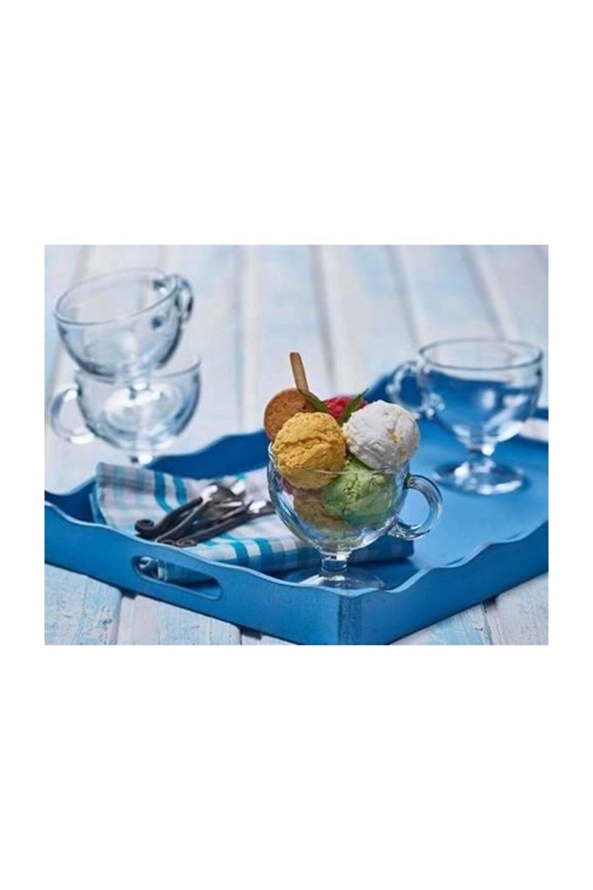 Paşabahçe 55182 Vario Kulplu Dondurma Bardağı 250 Cc 4 Lü