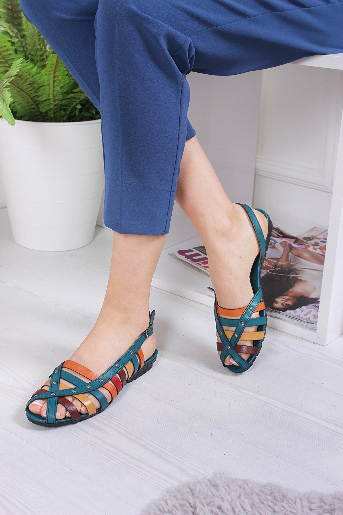 Bellacomfort Shoes Hakiki Deri Kadın Sandalet