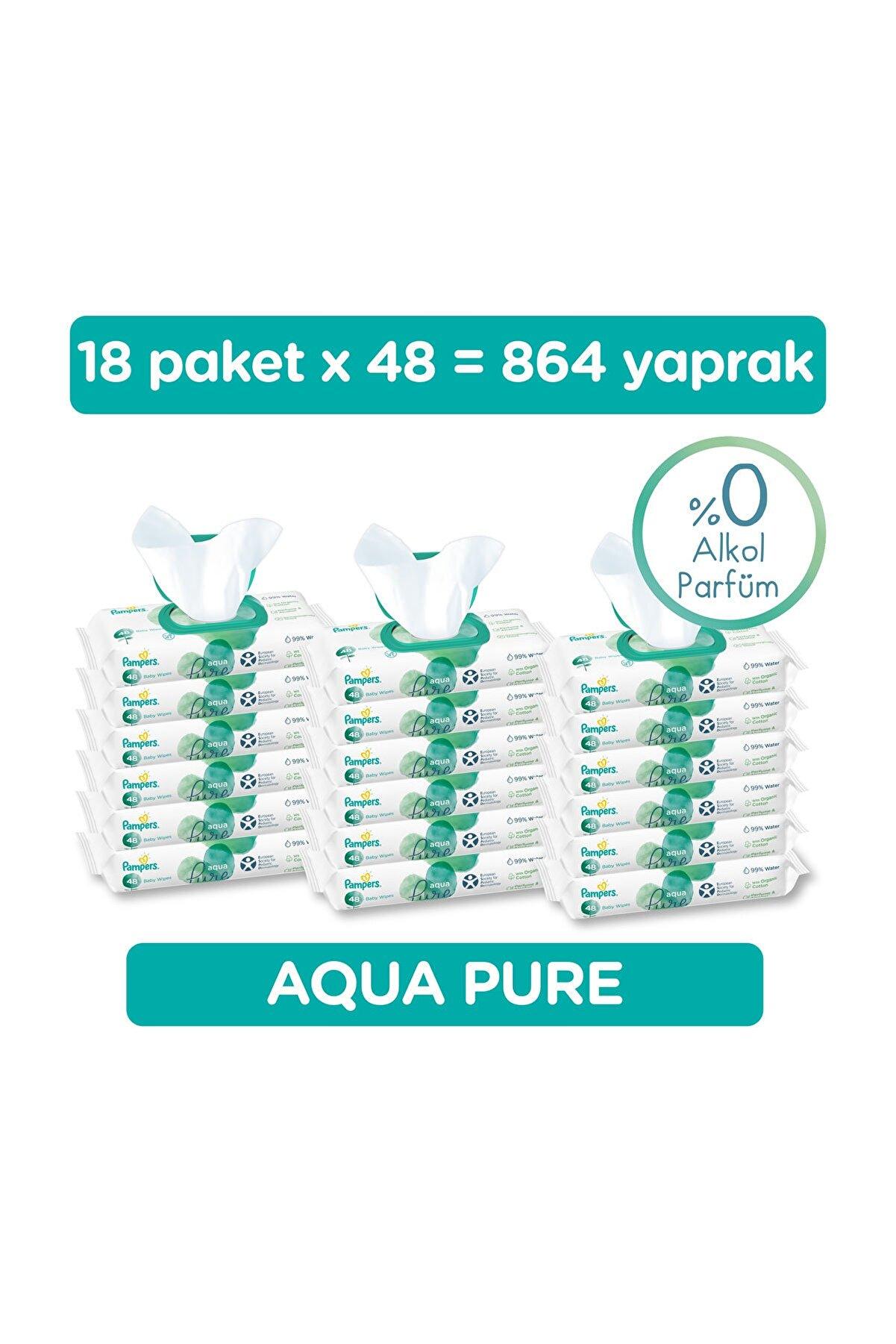 Prima Islak Havlu Aqua Pure 18'li Fırsat Paketi 864 Yaprak
