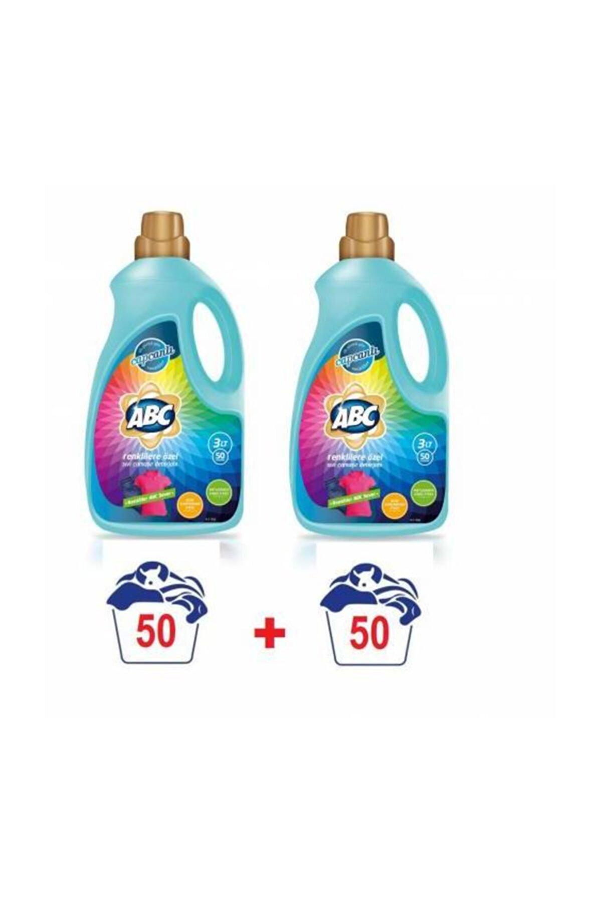 ABC Sıvı Çamaşır Deterjanı  3000 Ml. Renkliler Için 2 Adet