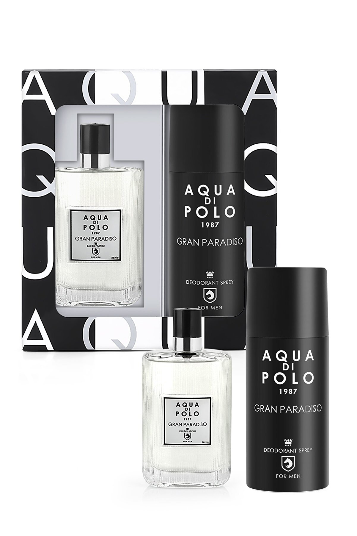 Aqua Di Polo Aynı Butikte 2. Ürün 1 TL Gran Paradiso Edp 50 ml  Erkek Parfüm-Sprey Deodorant Set APPXGR03EPD