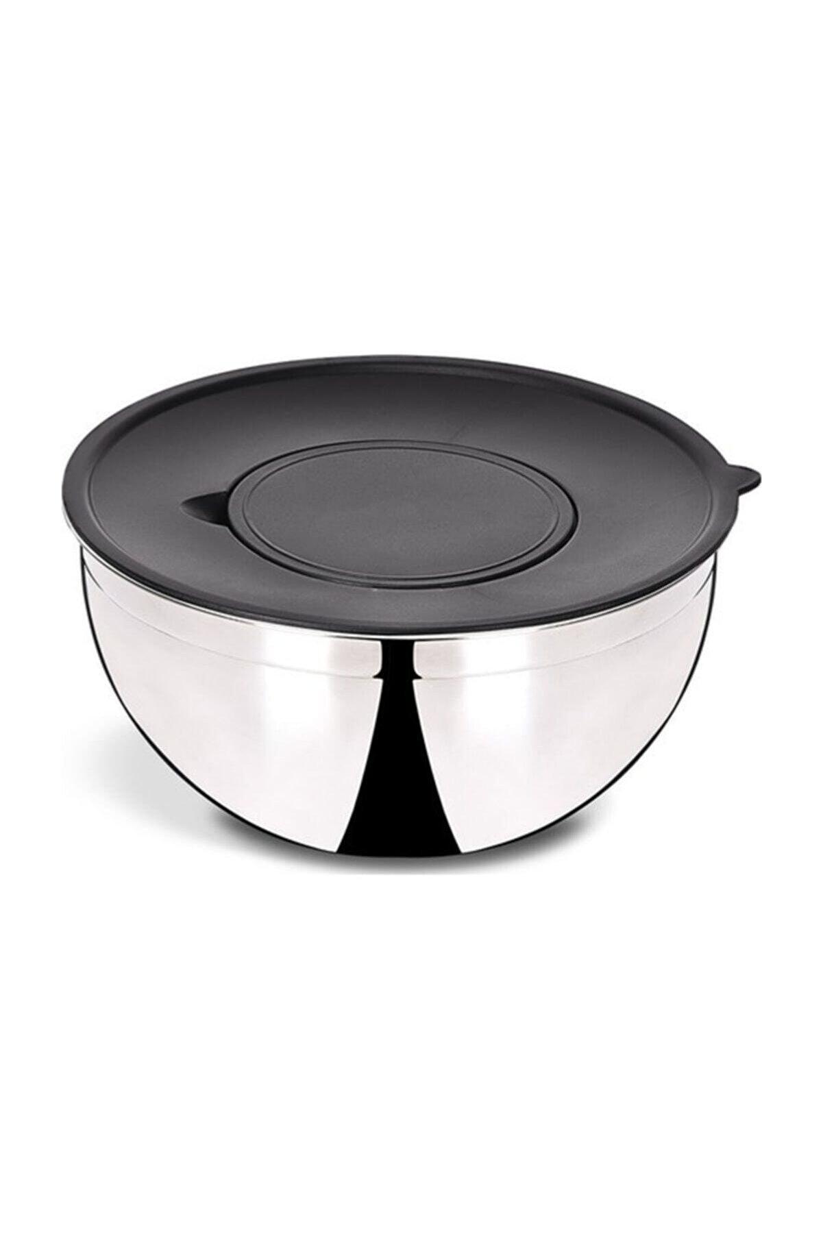 Cooker Çelik Derin Kapaklı Karıştırma Kabı 24 Cm