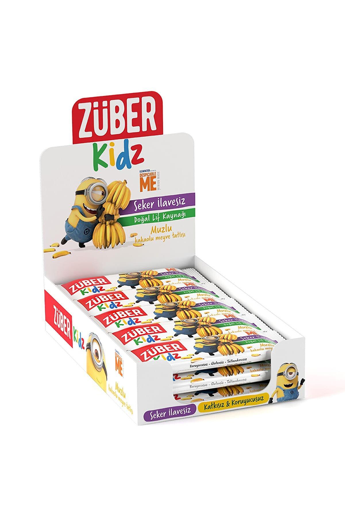 Züber Kidz Muzlu ve Kakaolu Meyve Tatlısı - 30 gr x 16 Adet