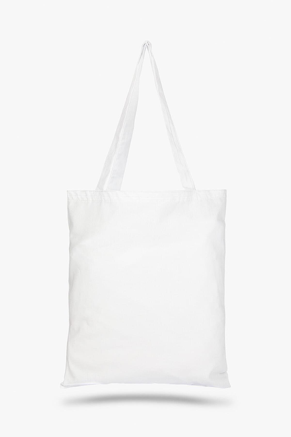 Çınar Bez Çanta Beyaz Bez Çanta C0005