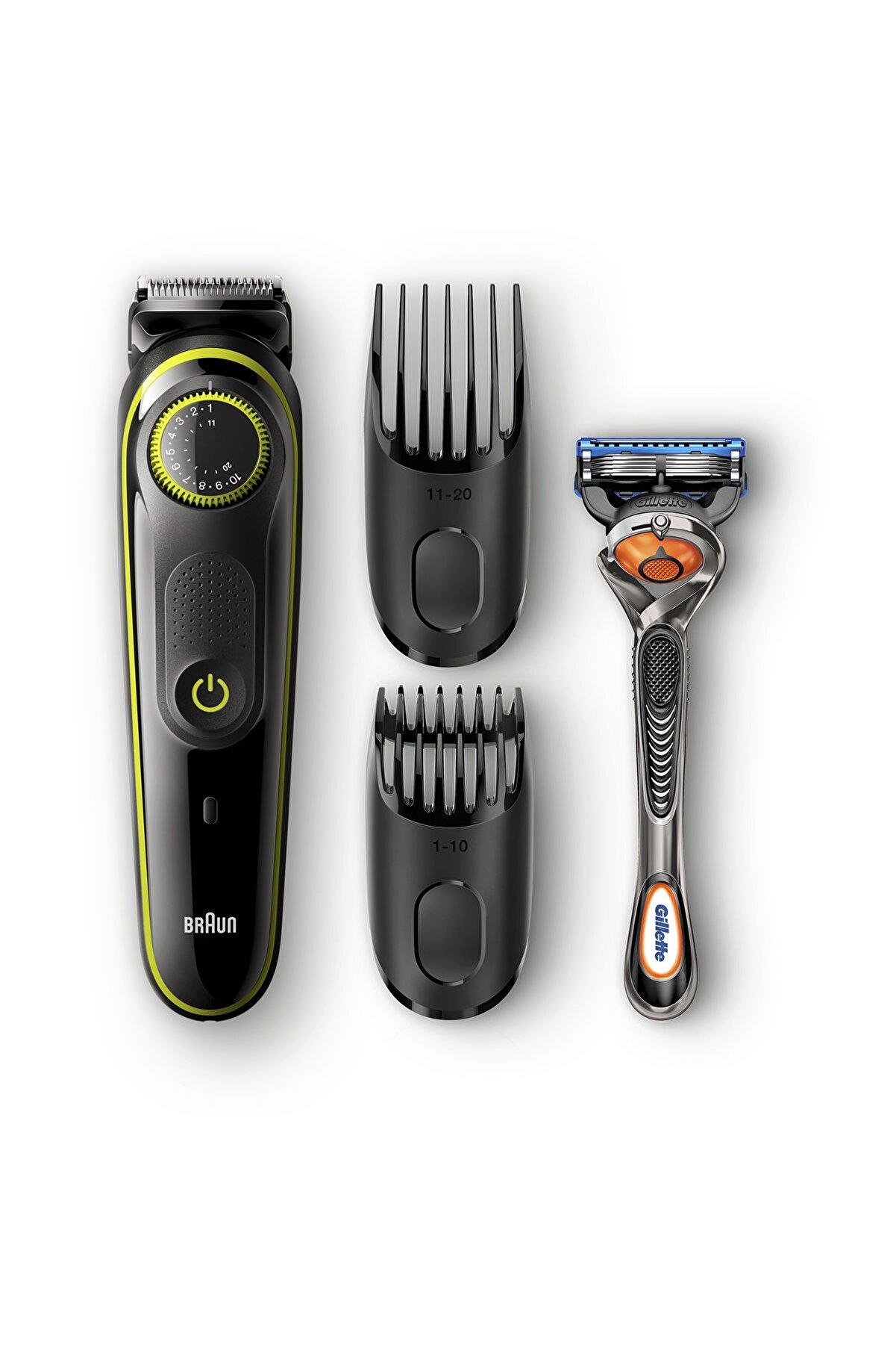 Braun Bt 3041 Saç&Sakal Şekillendirici,Siyah&Yeşil,Kablosuz,Islak&Kuru + Gillette Hediye