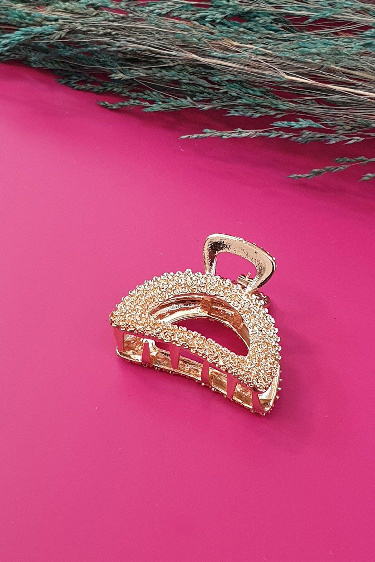 Çlk Accessories Kadın  Metal Kabartma Geometrik Mandal Toka Trtoka9097