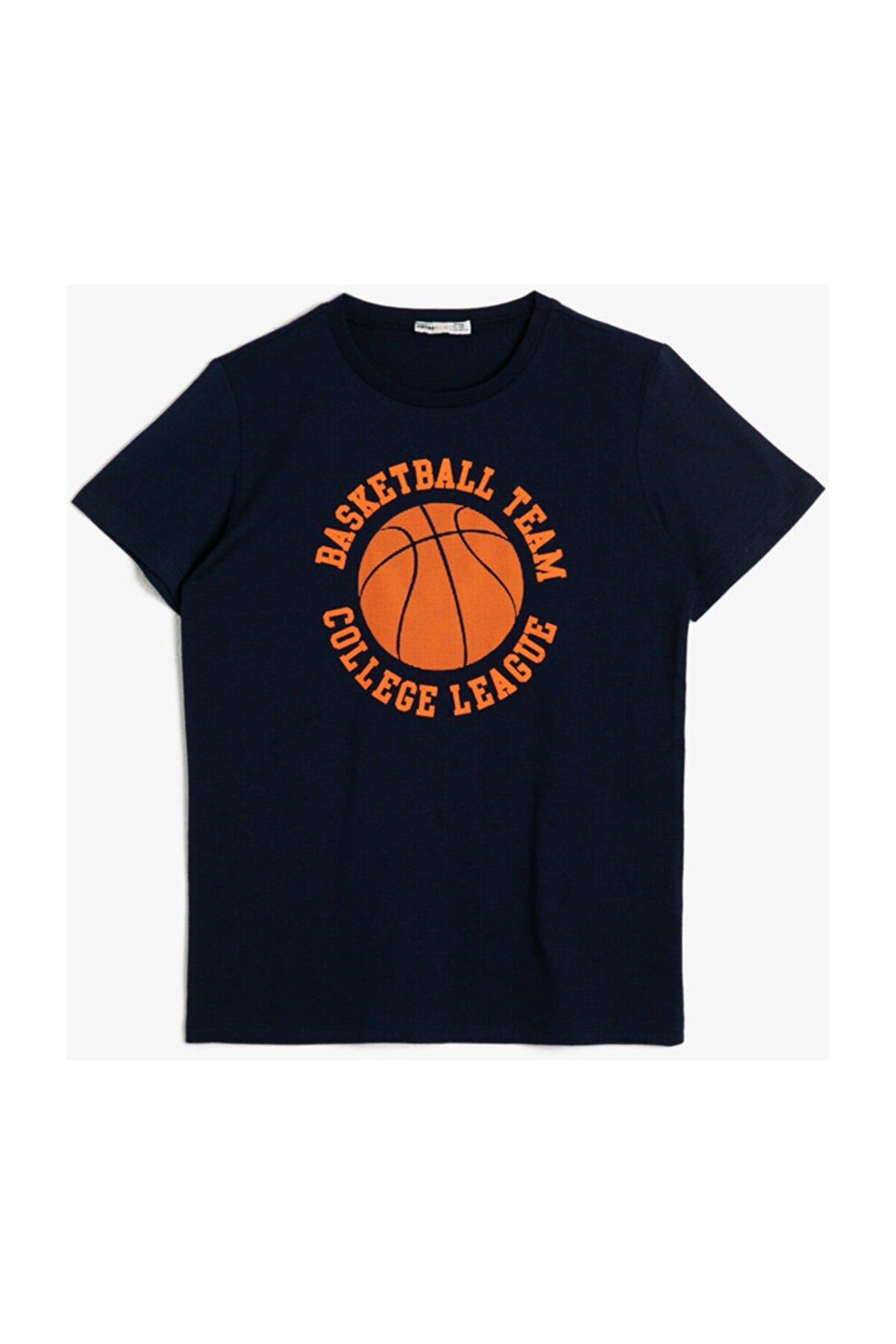 Koton Lacivert Erkek Çocuk T-Shirt 0YKB16047OK