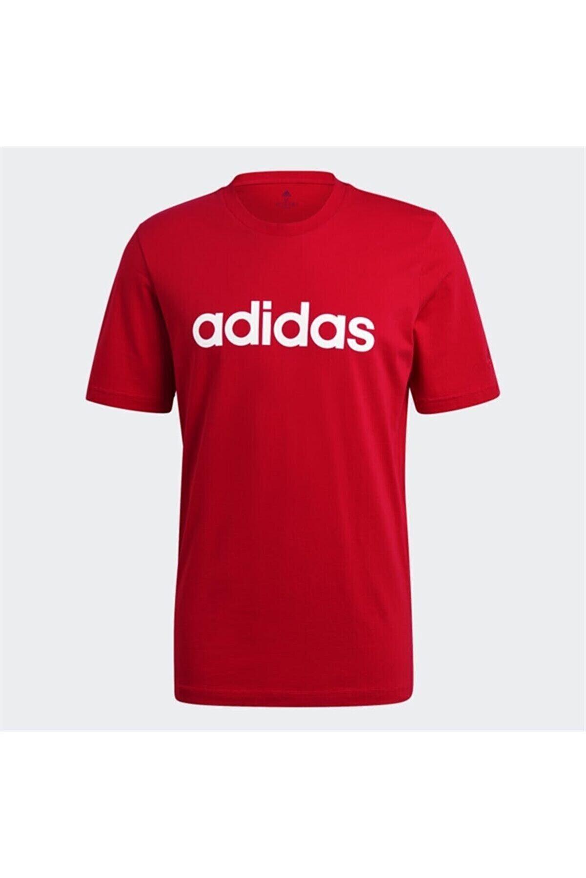 adidas M LIN SJ T Kırmızı Erkek T-Shirt 101079859
