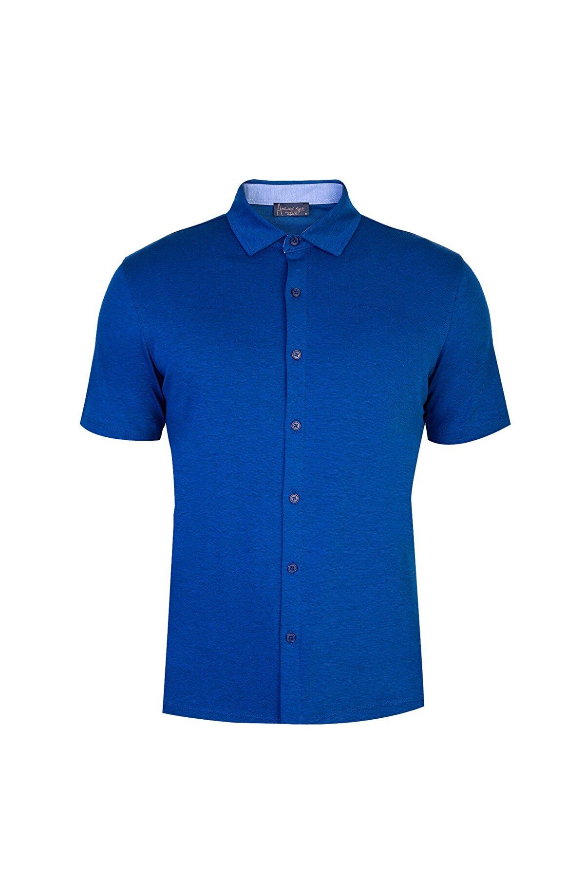 Kiğılı Yarım Italyan Yaka Regular Fit Gömlek Tişört