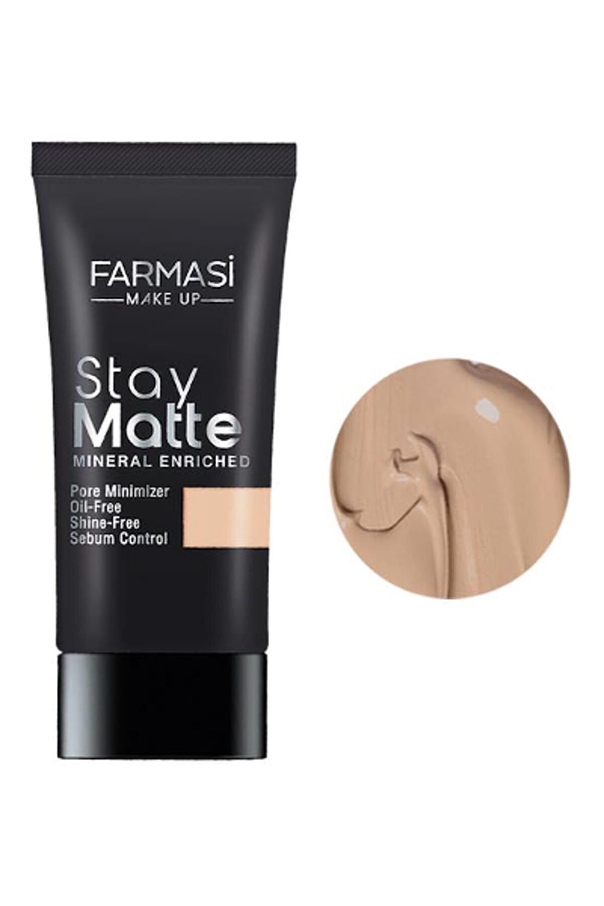 Farmasi Fondöten - Stay Matte Foundation Soft Beige 06 30 ml 8690131772352