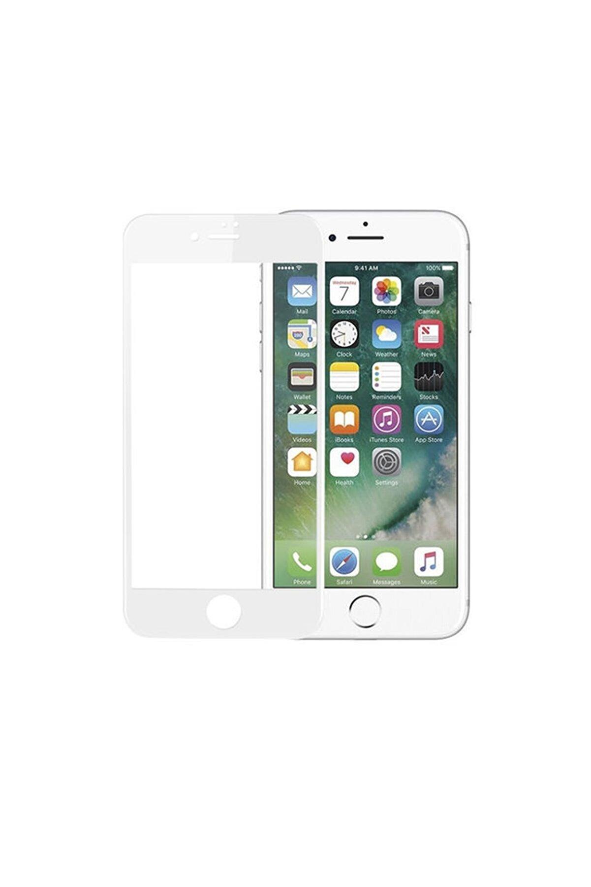 Telefon Aksesuarları iPhone 8 Kavisli Tam Kaplayan 9D Ekran Koruyucu Film