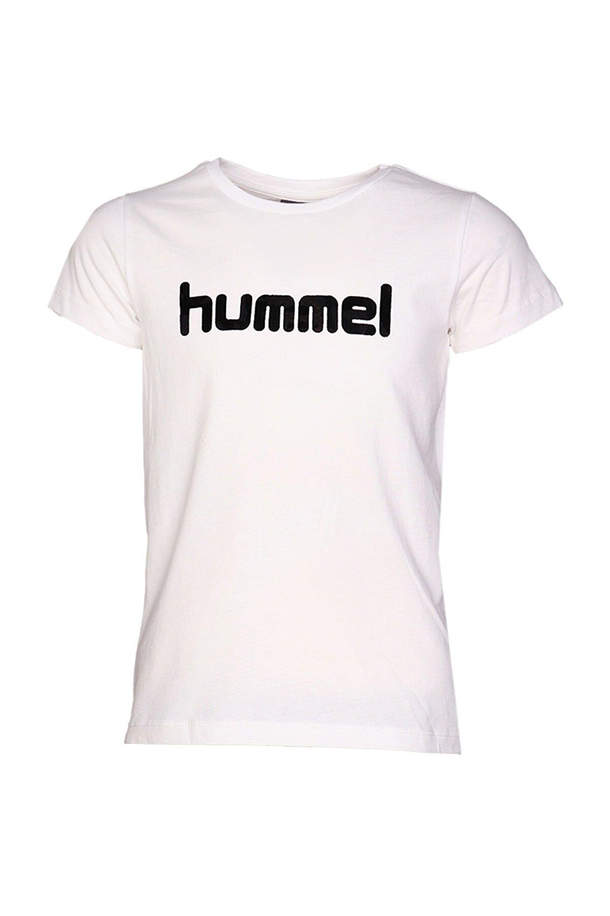 HUMMEL Beyaz Kız Çocuk Mota Kısa Kollu Tişört