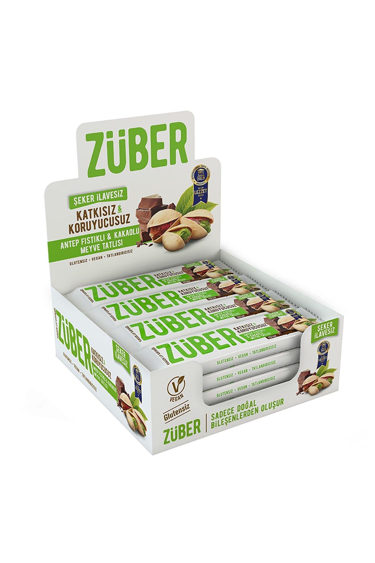 Züber Antep Fıstıklı ve Kakaolu Meyve Tatlısı - 40 gr x 12 Adet