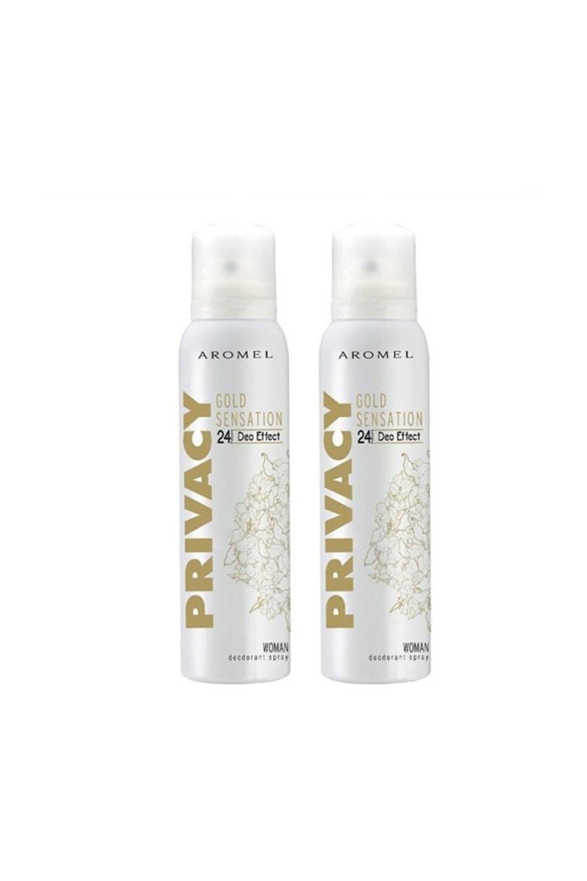 Privacy Gold Woman Kadın Deodorant 2'li Avantaj Paketi 150 Ml