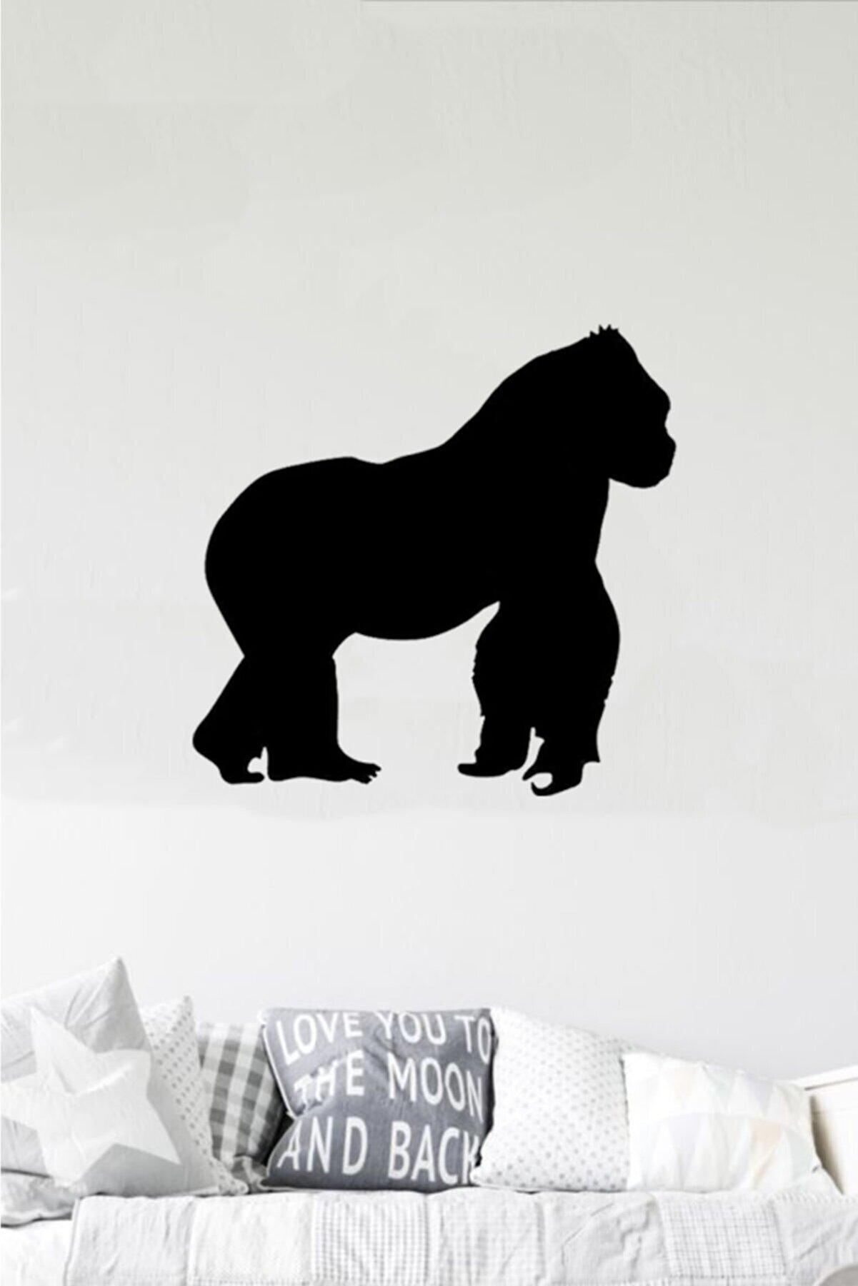 Taktakicat Goril Dekoratif Ahşap Tablo