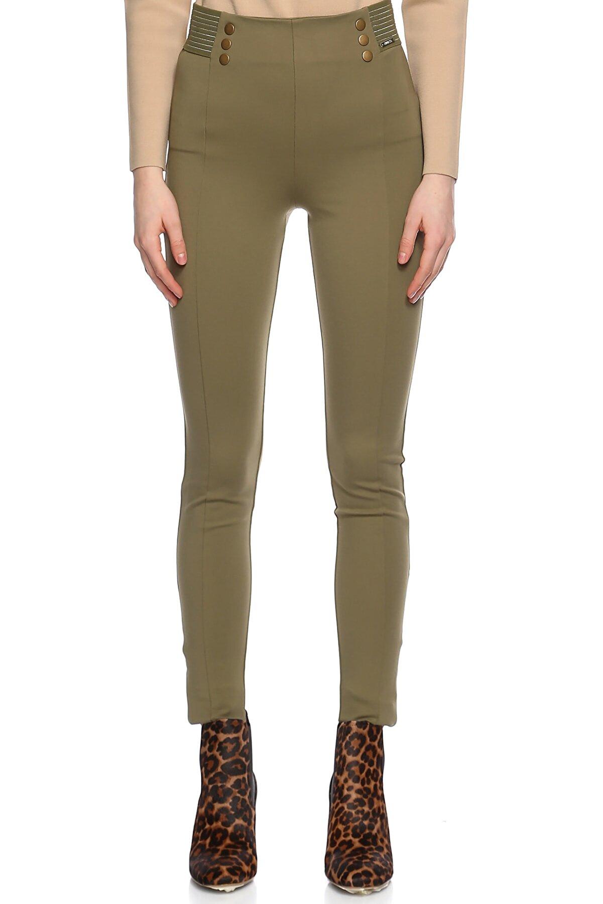 Guess Dar Kesim Yeşil Pantolon