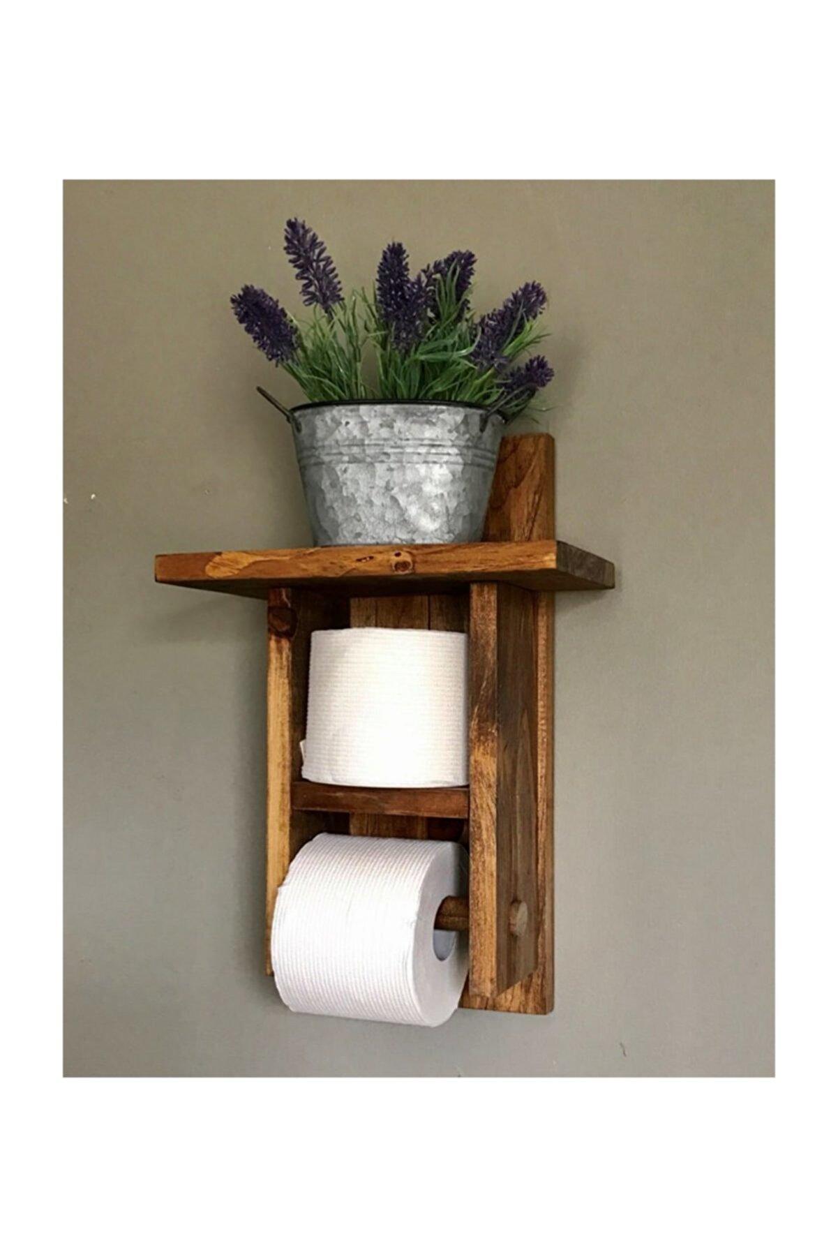 UmutHomeDesing Ahşap Tuvalet Kağıtlığı