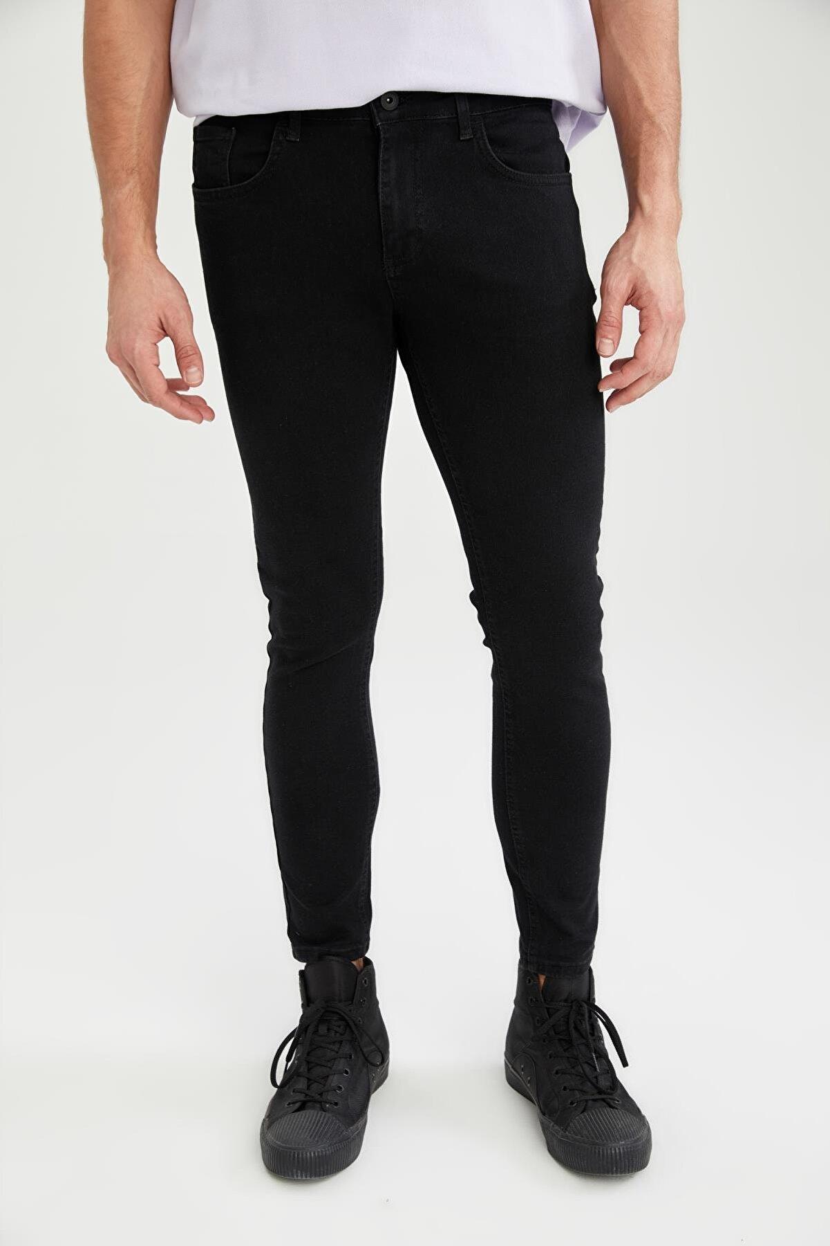Defacto Ultra Skinny Fit Normal Bel Dar Paça Jean Pantolon