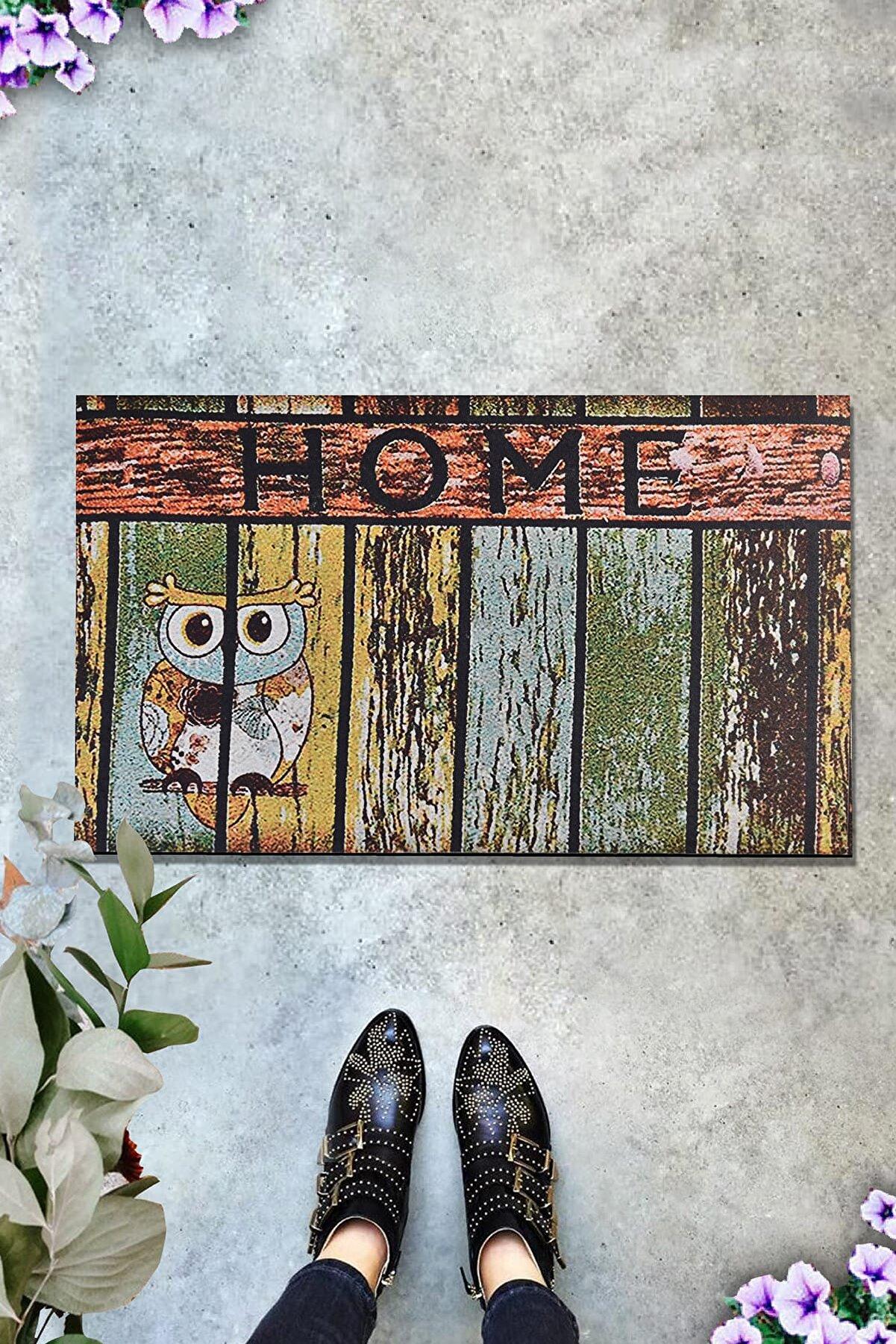 Chilai Home HOME OWL 45x70 cm İç ve Dış Kapı Önü Paspasları