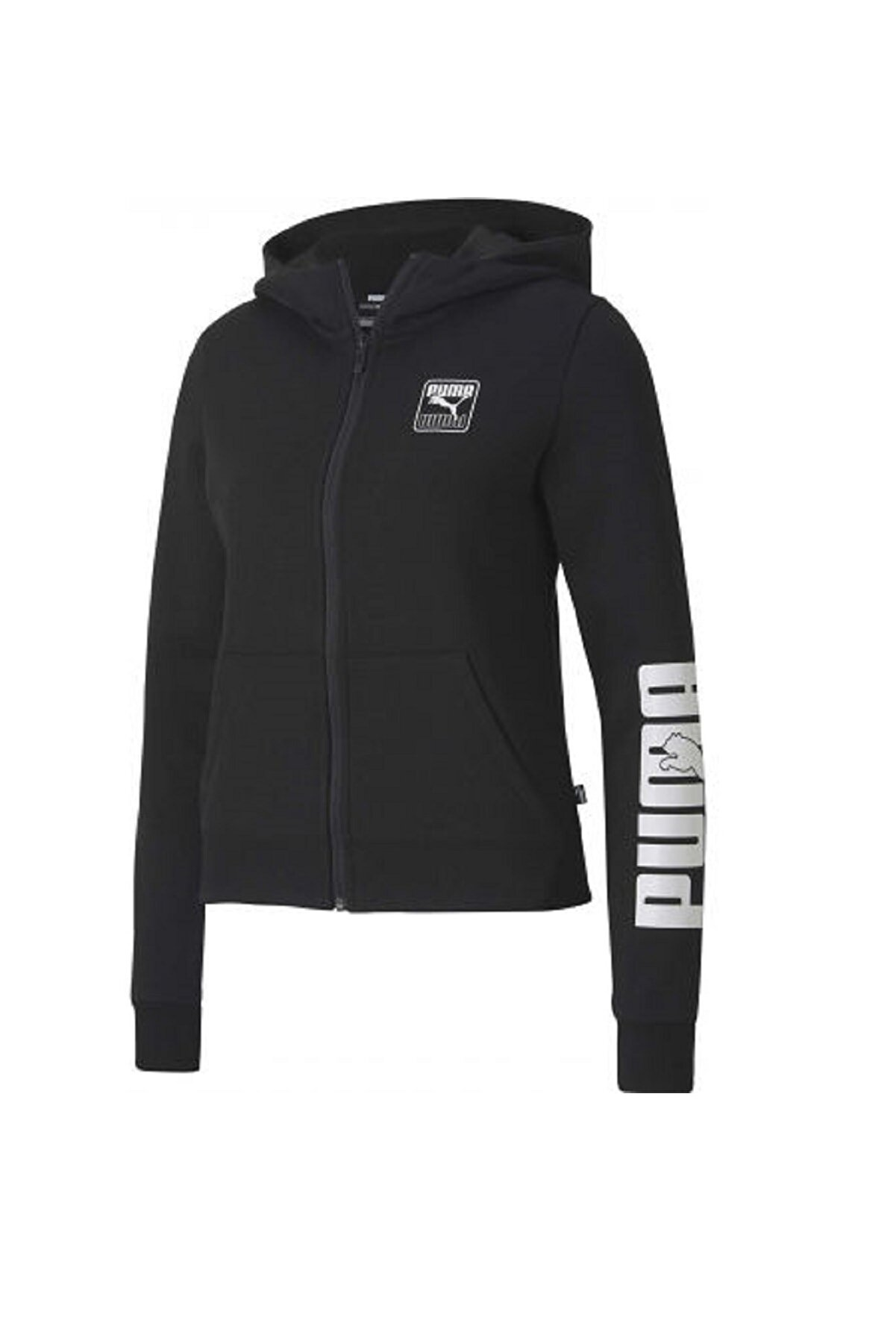 Puma Kadın Spor Sweatshirt - Rebel Full-Zip FL - 58356701