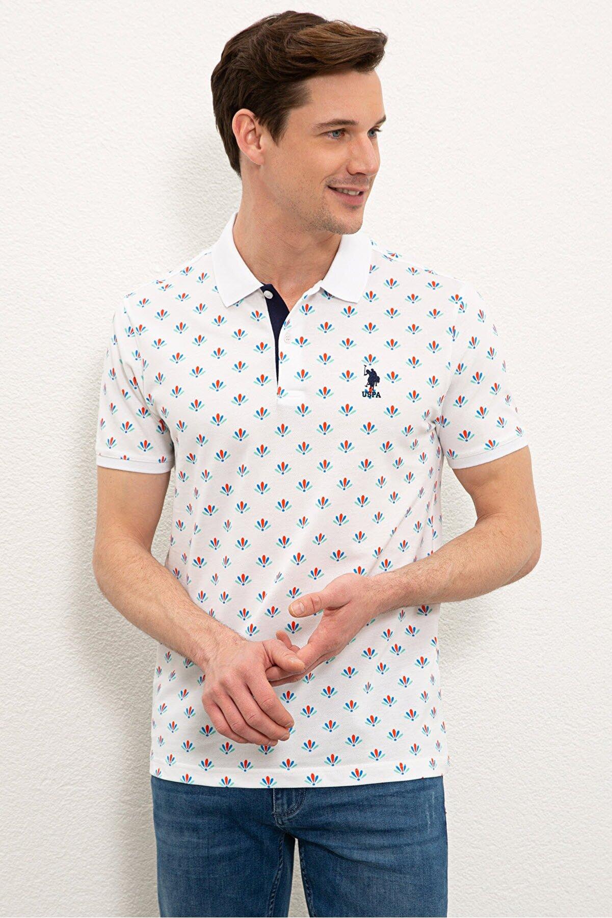 US Polo Assn Beyaz Erkek T-Shirt G081SZ011.000.980078