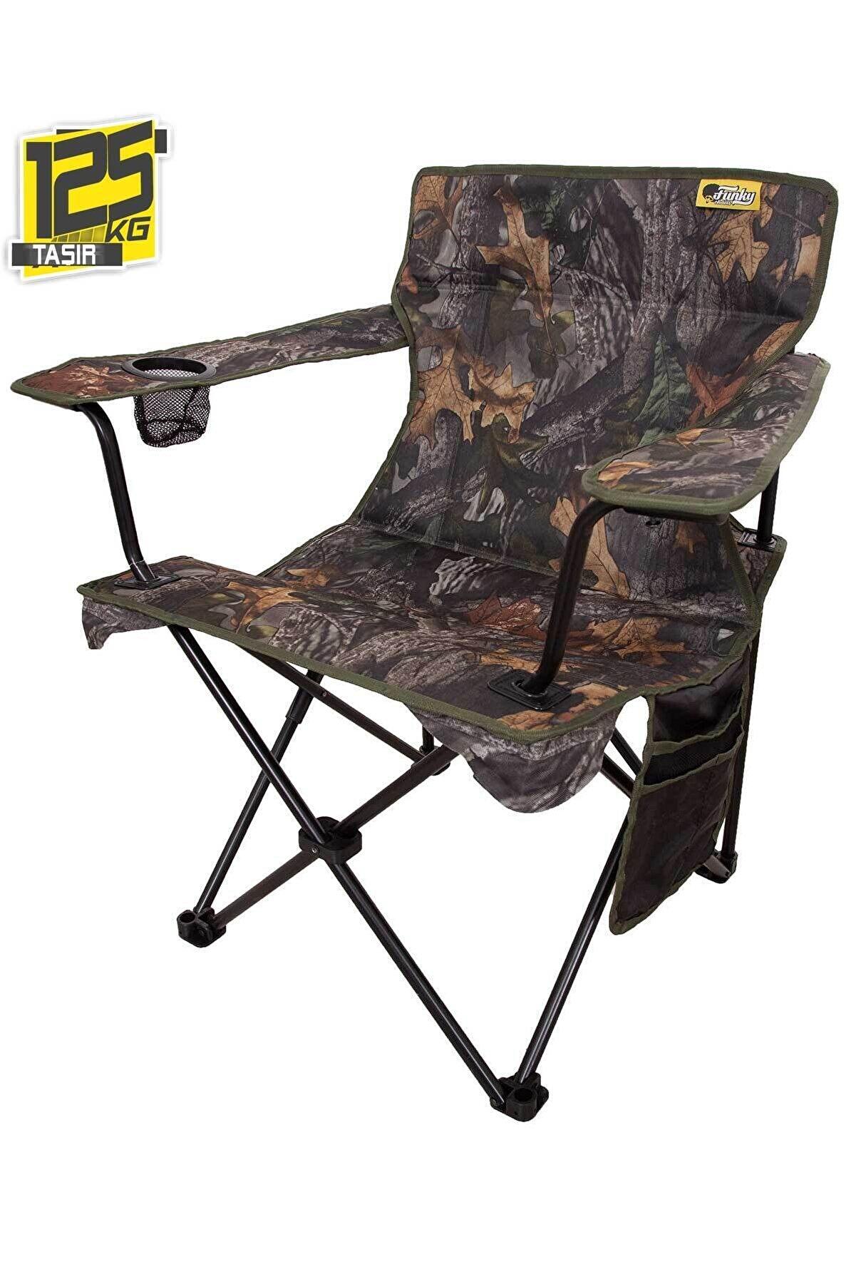 Funky Chairs Funky Chaırs V2 Meşe Kamuflaj Lüks Kamp Sandalyesi