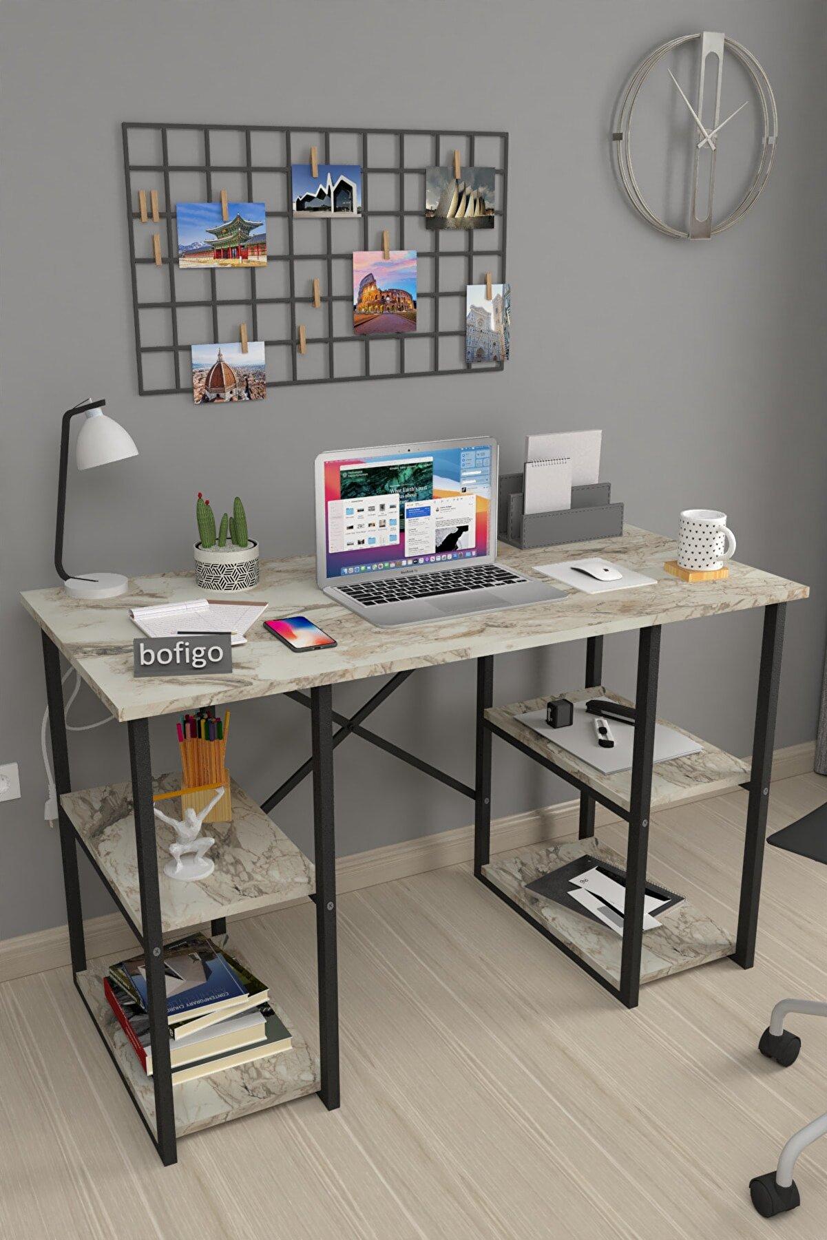 Bofigo 60X120 cm 4 Raflı Çalışma Masası Laptop Bilgisayar Masası Ofis Ders Yemek Cocuk Masası Efes