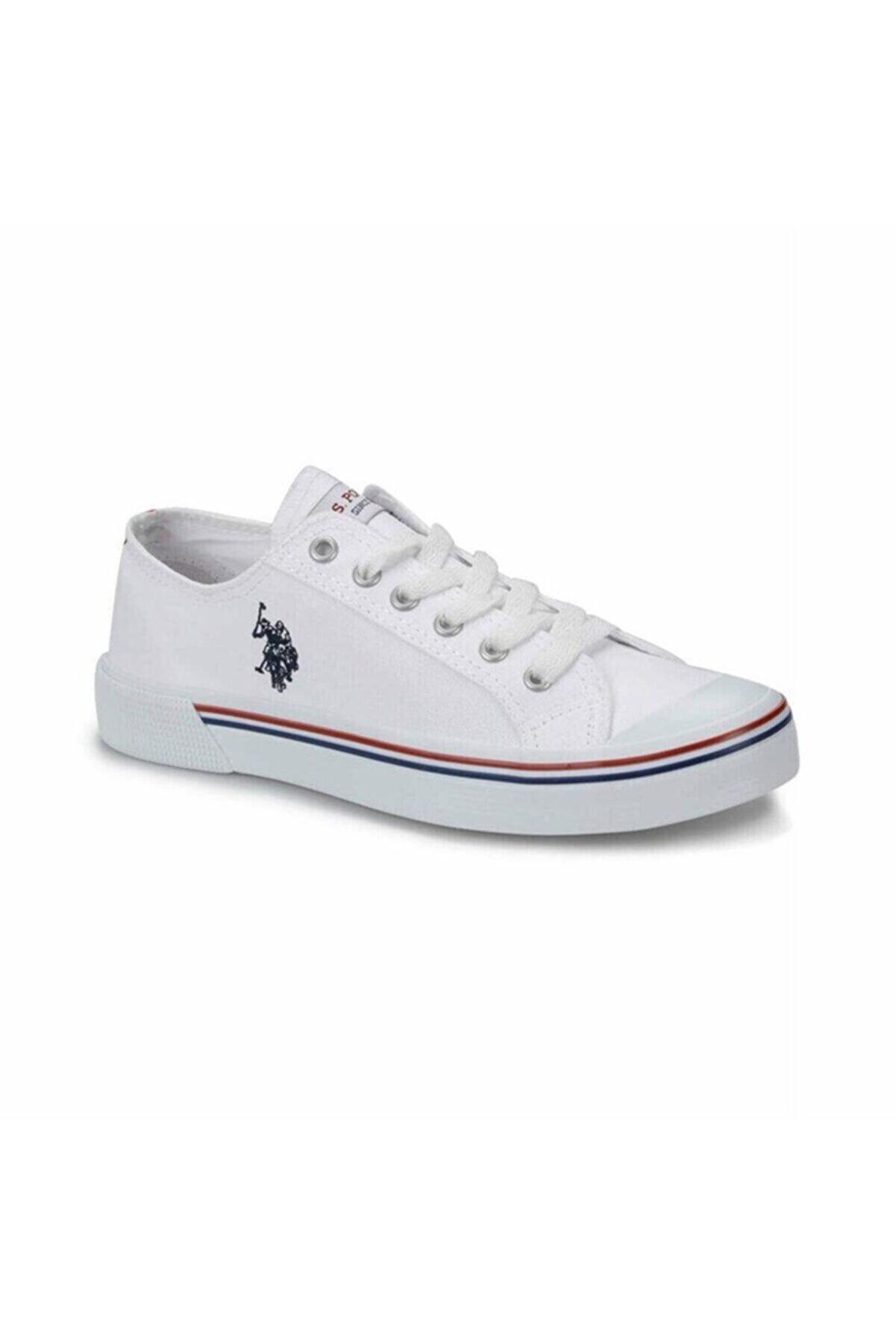 US Polo Assn Penelope 1fx Kadın Beyaz Bez Spor Ayakkabı
