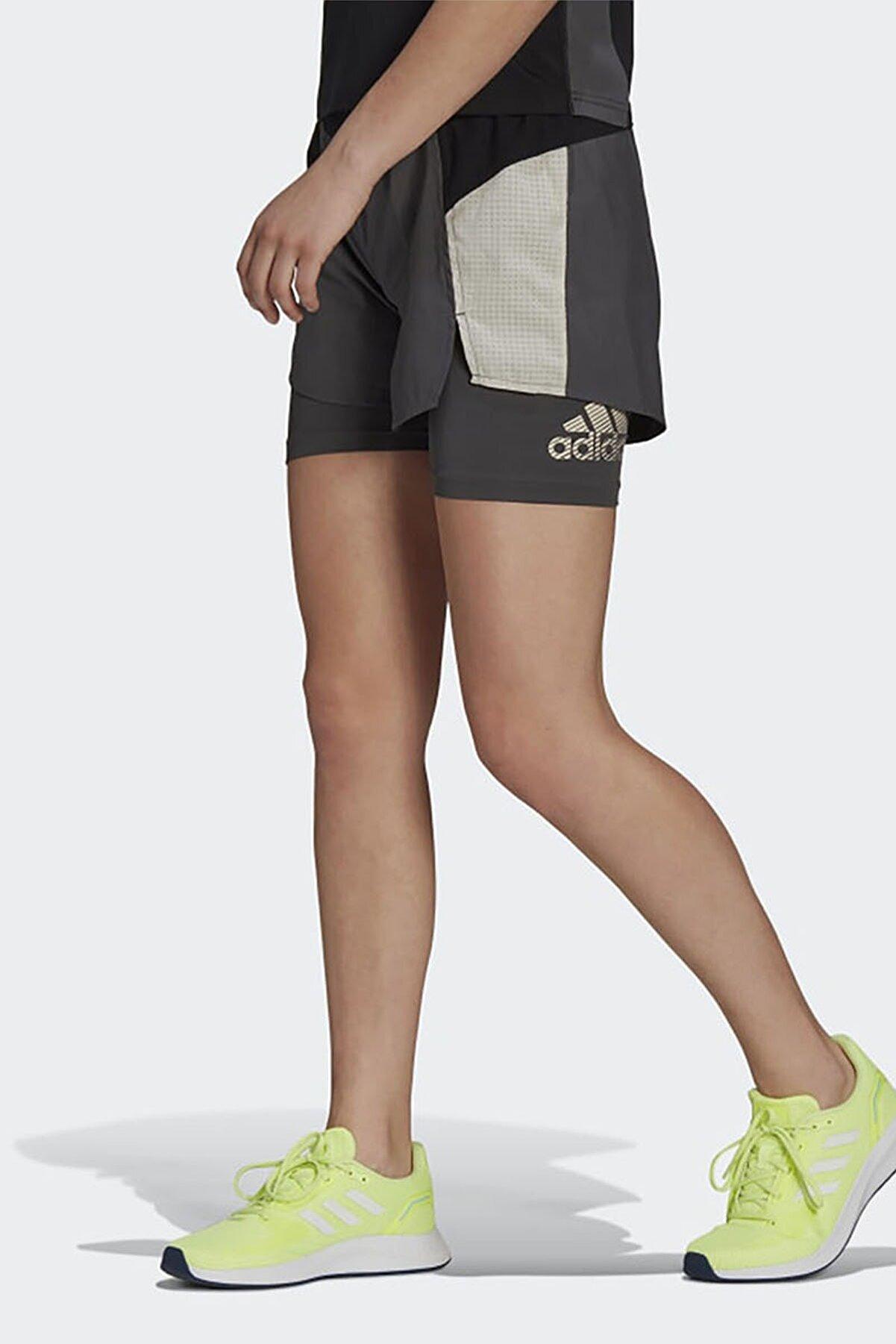 adidas Kadın Antrasit Koşu Yürüyüş Şort W At Sho Gl4012