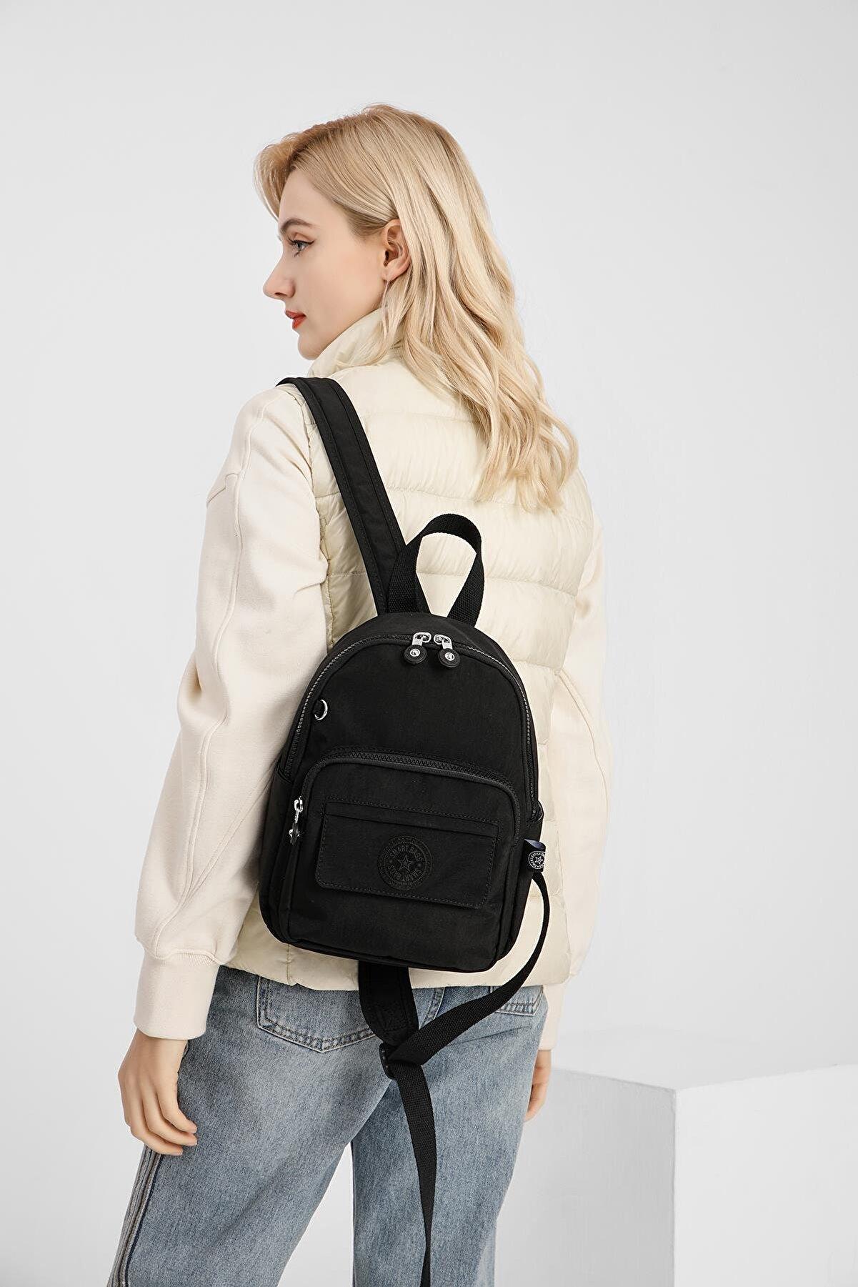 Smart Bags Smbyb3028-0001 Siyah Kadın Küçük Sırt Çantası