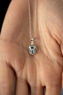 İzla Design Kadın Fatma Ana Eli Model Nazarlık Gümüş Kolye PKT-TLYSLVR0836