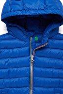 Benetton Saks Mavi Çocuk Dolgulu Renkli Yelek