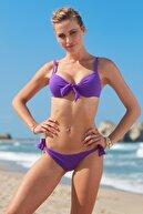 No Gossip Kadın Tulum Bağcık Bikini Alt 209205 Mor