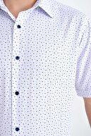 Hatemoğlu Desenli  Regular Lacivert Gömlek 19D190000010
