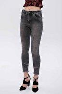 Madmext Mad Girls Gri Skinny Fit Yüksek Bel Kadın Jean MG258