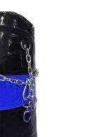 Tedarikcenter Kum Torbası 120x35 Profesyonel Boks Torbası Zincirli Kum Torbası - Mavi