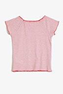 Koton Kırmızı Çizgili Kız Çocuk T-Shirt