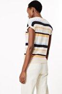 Marks & Spencer Kadın Multi Renk Çizgili V Yaka Bluz T38001163S