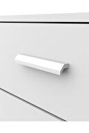 DEKOREX Sfr-104 Beyaz 5 Çekmeceli Askılı Şifonyer