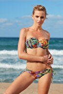 No Gossip Kadın Straplez Kaplı Bikini Üst 209105-D Tropic