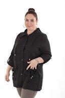 Rmg Keten Kadın Trençkot 9723 Siyah/Black 20S49009723